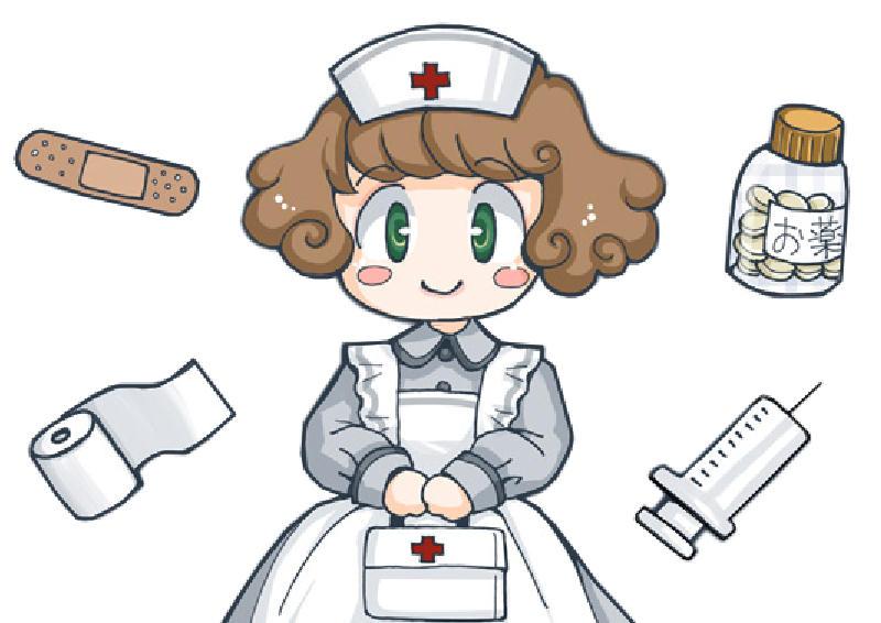 ilustración Enfermera tamaño grande