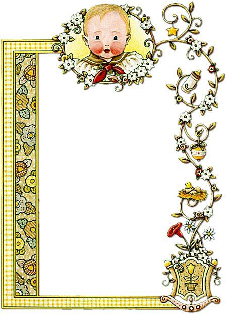 Bordes decorativos para tarjetas para bebés - Imagui
