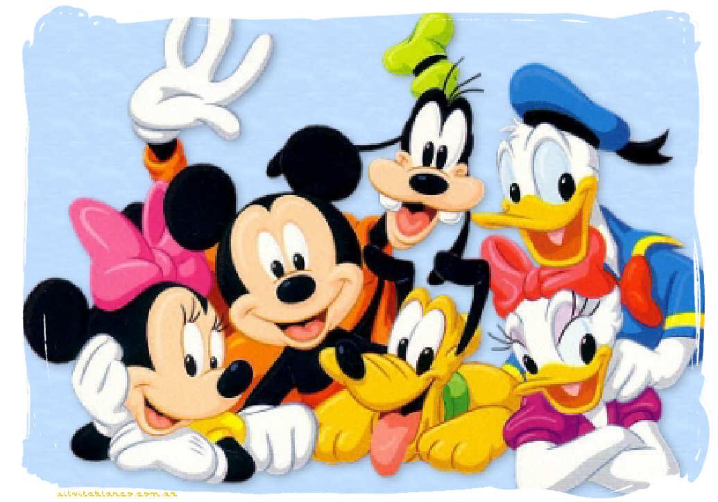 Mickey Mouse Y Sus Amigos Tarjetas FELIZ CUMPLEAÑOS Disney