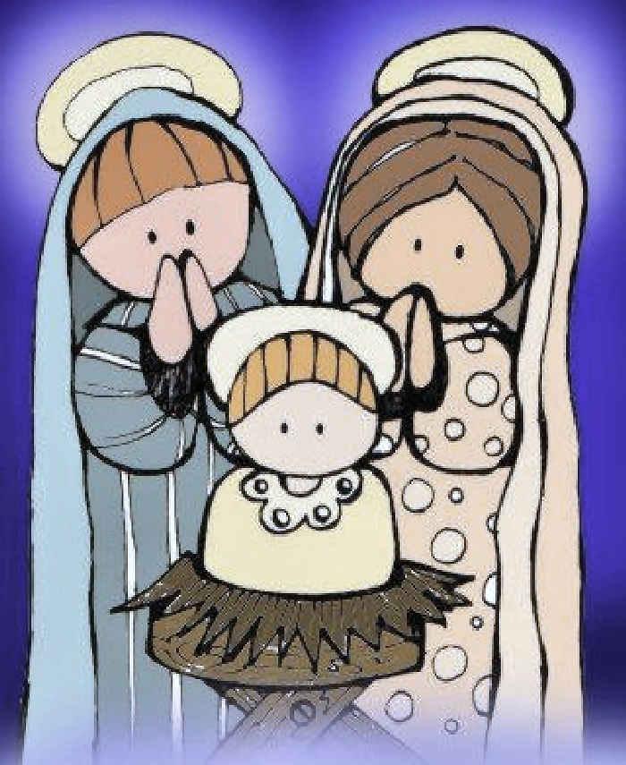 Dibujos cristianos pesebre para colorear dibujos - Dibujos de belenes ...